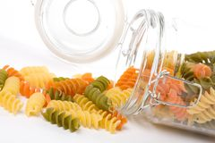 Pasta in a glass jar Royalty Free Stock Photos