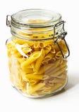 Pasta in glass jar Stock Photos
