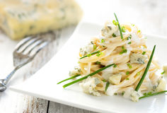 Pasta with gorgonzola Royalty Free Stock Photography