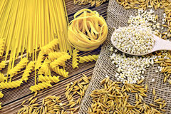 Pasta with grain Stock Images