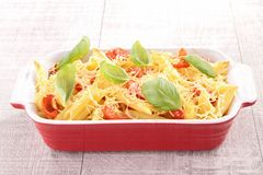 Pasta gratin Stock Image