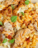 Pasta Gratin with Chicken & Bacon Royalty Free Stock Photo