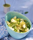 Pasta and green peas salad Stock Photo