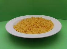 Pasta grezza dei maccheroni Fotografie Stock