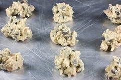 Pasta grezza del biscotto di pepita di cioccolato fotografia stock libera da diritti