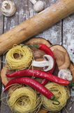 Pasta grezza italiana Fotografie Stock