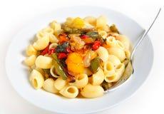 pasta grillad veg Arkivfoto