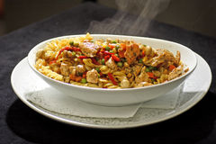 Pasta with grilled chicken Royalty Free Stock Photo