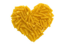 Pasta heart Stock Image