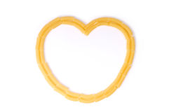 Pasta heart Stock Photography