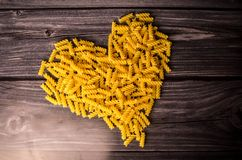 Pasta heart. Pasta high protein cooking book Royalty Free Stock Photography