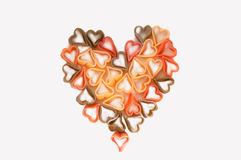 Pasta heart isolated on white background Royalty Free Stock Photo