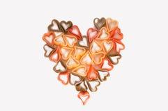 Pasta heart isolated on white background Royalty Free Stock Photo