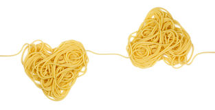 Pasta heart sample for ornament loop Stock Photos