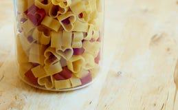 Pasta Heart-shaped Fotografia Stock Libera da Diritti