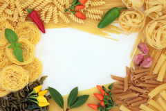 Pasta Herb and Spice Border Stock Images