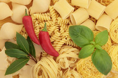 Pasta and Herbs Royalty Free Stock Photo