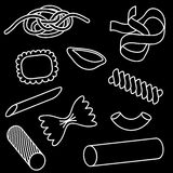 Pasta icon set Stock Photography