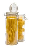 Pasta In Glass Can Stock Images