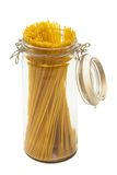 Pasta In Glass Can Stock Photo