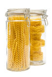 Pasta In Glass Jar Stock Image