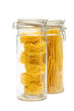 Pasta In Glass Jar Stock Photos