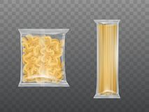 Free Pasta In Limpid Package Set Dry Macaroni Spaghetti Royalty Free Stock Photography - 153874637