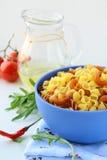 Pasta ingredient olive oil, basil, tomato Royalty Free Stock Image