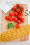 Pasta ingredients. Delicious ingredients used for a pasta meal Royalty Free Stock Photography