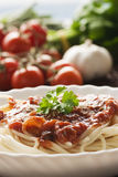 Pasta with ingredients Royalty Free Stock Photography