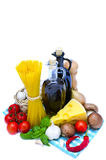 Pasta ingredients Royalty Free Stock Images