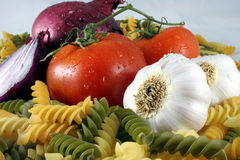Pasta Ingredients Royalty Free Stock Photography