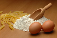 Pasta Ingredients Stock Image