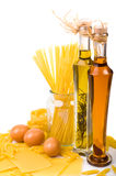 Pasta Ingredients On The White Stock Photography
