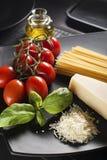 Pasta ingredients Royalty Free Stock Photos