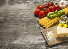Pasta ingredients Stock Photo