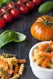 Pasta ingredients stock images