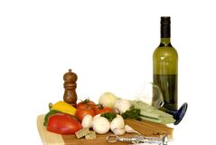 Pasta ingredients, vegetables Stock Photos
