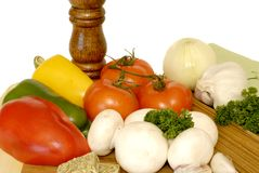 Pasta ingredients, vegetables Royalty Free Stock Photos