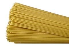 Pasta isolated. Raw pasta isolated on white background. DFF image Stock Photography