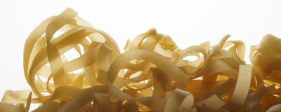 Pasta isolated on white - banner / header edition Stock Photos