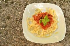 Pasta in Italian art Stock Photos