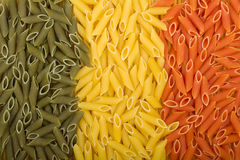 Pasta Italian flag. Colored pasta Italian flag texture royalty free stock images