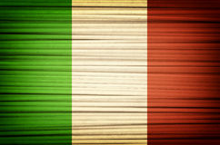 Pasta. Italian flag made of spaghetti closeup Royalty Free Stock Image