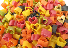 Pasta Italian heart shaped Stock Image
