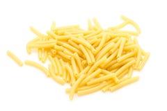 Pasta. Italian pasta maccheroni  on white background Royalty Free Stock Photo
