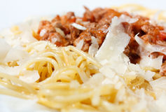 Pasta Italian with sauce Bolognese Stock Photo
