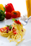 Pasta Italian  tomatoes Royalty Free Stock Images