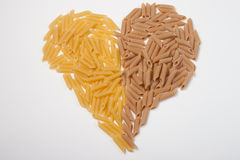 Pasta. Italian pasta typical Italian product obtained by processing grain flour Stock Image