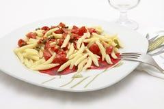 Pasta italiana Fotografie Stock Libere da Diritti